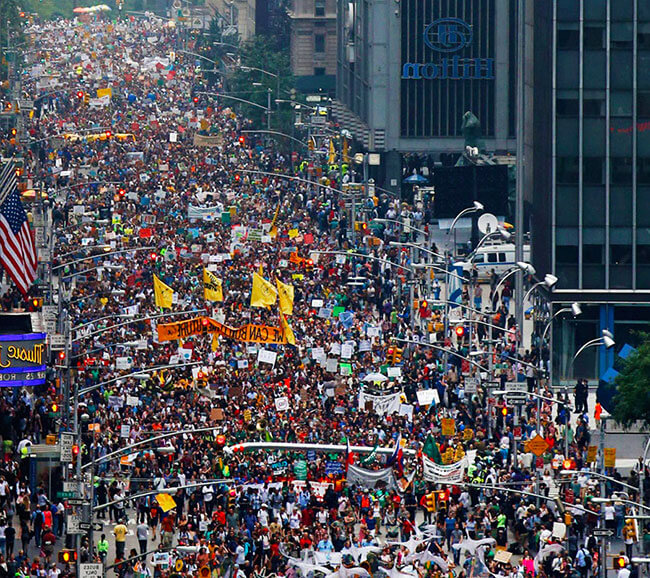 Biggest climate march in history!