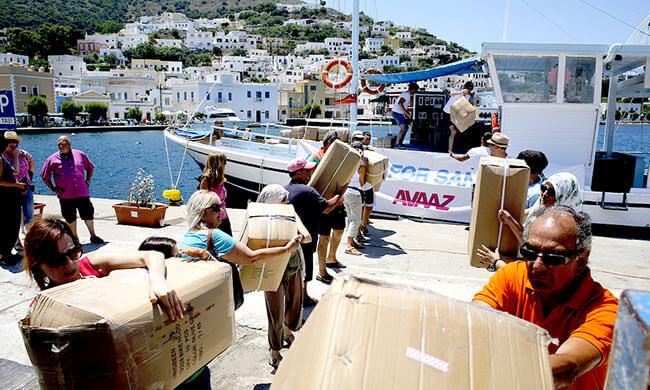 Flüchtlinge auf dem Meer retten