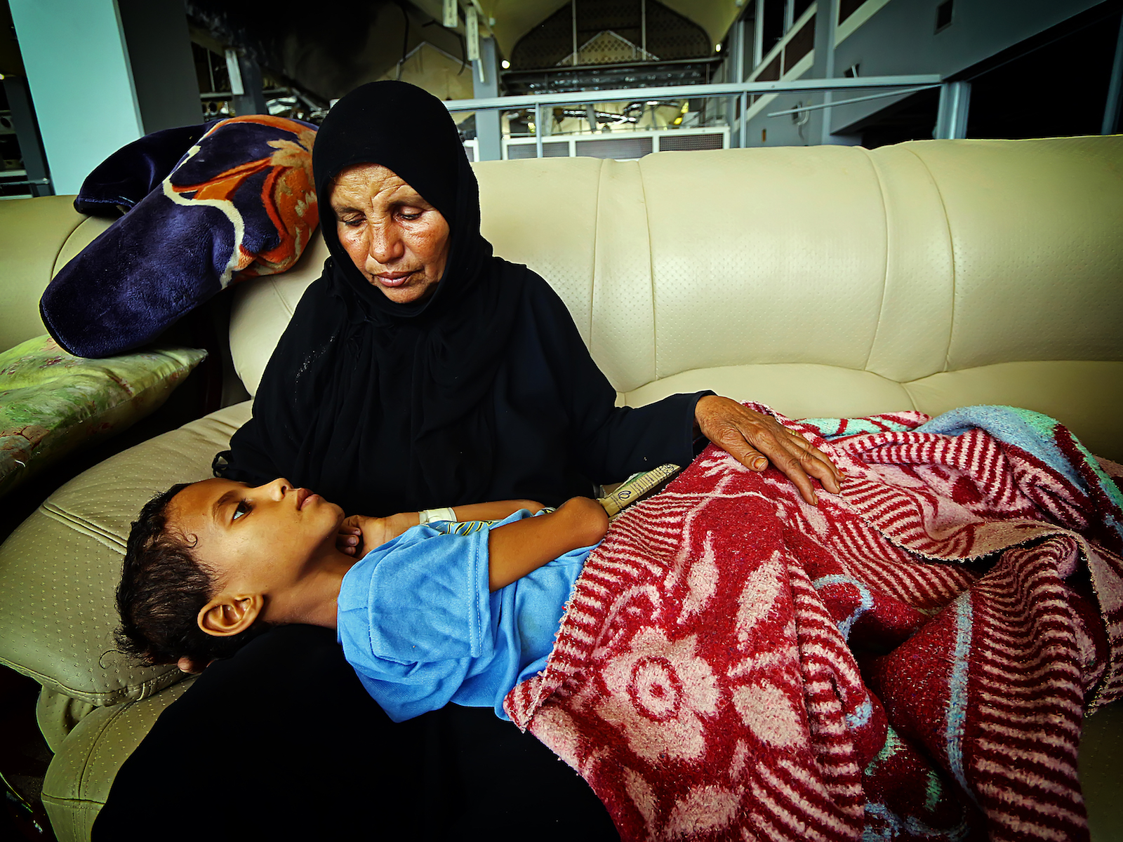 Mother and injured son