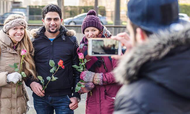 A gesture of love to Europe's refugees
