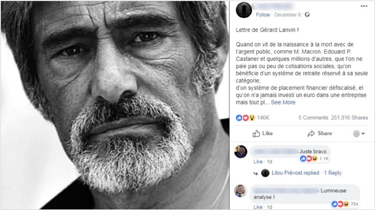 France Lanvin Fake News
