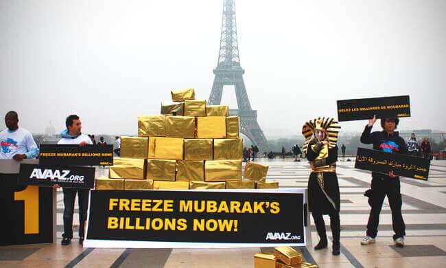 Freezing Mubarak's stolen assets