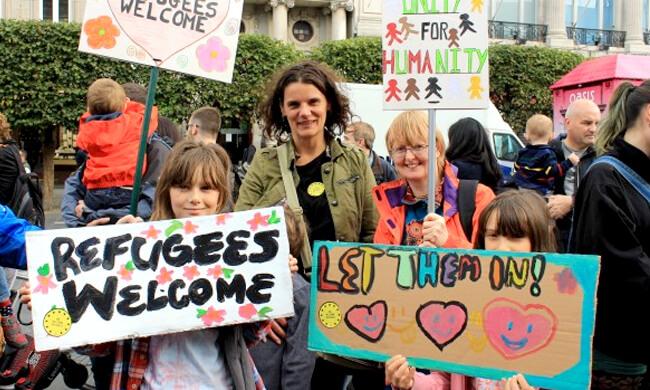 Die Türen für Flüchtlinge öffnen