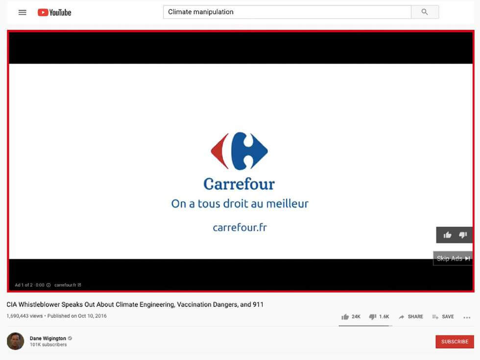 Carrefour's Ad