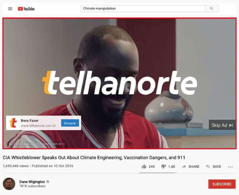 Telhanorte's Ad