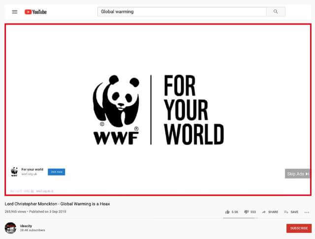 World Wildlife Fund (WWF)'s Ad