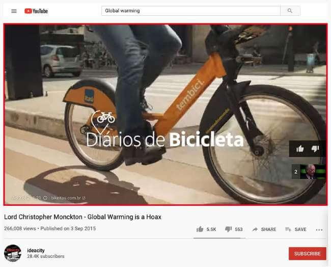 Bike Itaú's Ad