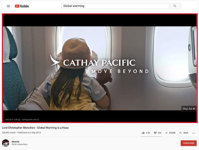 Cathay Pacific's Ad